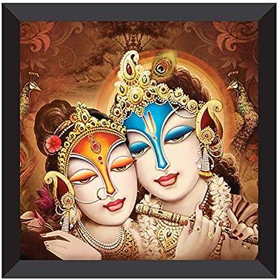 SAF UV Coated Radha Krishna Multieffect Digital Reprint Painting 12 inch X 12 inch SANF21039
