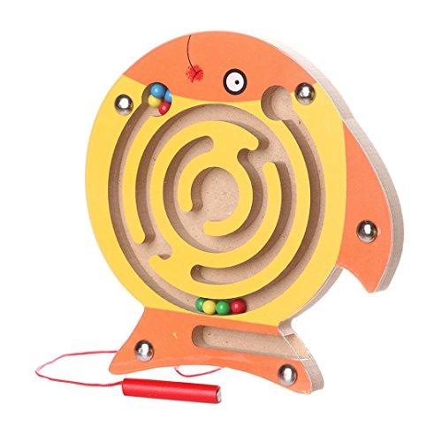 SALLYDREAM Laberinto Mágico Laberinto Magnético Juegos de Madera Educativos (C)