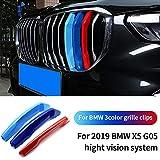 ontto 3 Colori Auto M-Sport Anteriore Griglia Coperchio Rene Strisce Clip per BM-W X5 G05 2019 Insert Trim Striscia di 3D Adesivi Rene Griglia Radiatore Fibbia decorazioni-Sistema versione alta