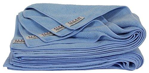 CLEANPRODUCTS Lot de 5 chiffons de polissage en microfibre bleu maxi – Chiffons spéciaux de très haute qualité (62 x 50 cm) pour le polissage – pour la préparation de la voiture