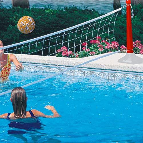 Kerlis 08231-Jeu de Volley pour Piscine-Filet Extensible jusqu'à 7 m-Pieds lestés-Coloris Bleu, 8231