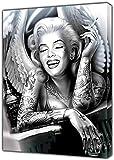 Schwarz Weiß Marilyn Monroe Engel Portrait Leinwand