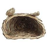 Pssopp Hamster Nid de Paille, Tête de Lapin Forme Herbe Chaud Maison Nest Cachette pour Hamster Gerbille Rat Souris Chinchillas Écureuil Cochon De Guinée Oiseaux