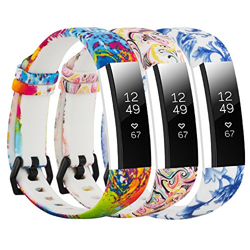 Compatible with Fitbit Alta Bands / Fitbit Alta HR Bands for Women Men, Soft Pattern Printed Floral Band Accessories Replacement for Fitbit Alta HR
