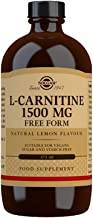 Solgar L-Carnitine 1500 mg Liquid, 16 oz. - Natural Lemon Flavor - Heart Health - Supports Energy, Metabolism, Exercise En...