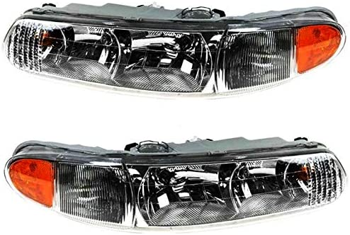 Headlight Assembly Popular products Set of 2 - Compatible 1997-2005 Ce Buick Japan Maker New with