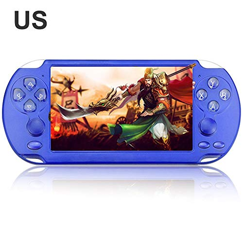 Lianle X9-s 8G Handheld Game Console Retro Colorful Screen 5.1Inch PSP Double Rocker Game Console for Kids&Adults