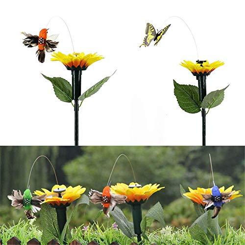 Lanbowo USA Energía Solar Baile Revoloteando Mariposas Voladoras Colibrí Jardín Yarda Regalo Decoración - Colibrí, 26.00 * 18.00 * 5.00cm