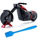 Pizza Cutter Wheel,Stainless Steel Pizza Slicer Motorcycle Shape Pizza Slicer Cutter Wheel With a Kickstand, Easy to Clean (Motorcycle Shape)