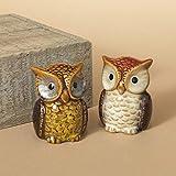 Autumn Owls Salt & Pepper Shaker Set