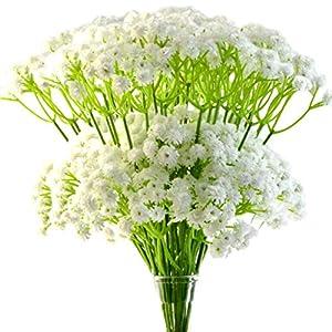 "Tongcloud 48 pcs Artificial Baby Breath Flowers,Babys Breath Artificial Flowers Baby Breath Artificial Flowers Bouquets for Wedding Party Decoration DIY Home Decor 11.5"""