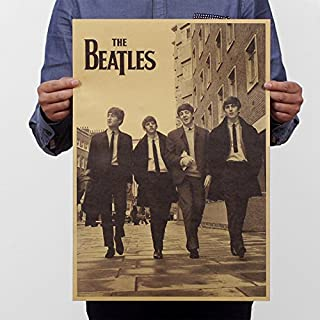 Witkey The Beatles Street Old Style Poster Print Vintage Kraft Paper Home Decor Art Decoration
