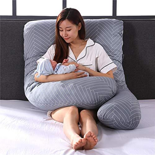 Almohada de Embarazo para Mujer, cojín de Embarazo, Almohada Lateral, Almohada en Forma de U, extraíble, cojín de Lactancia Maternidad, Soporte Almohada