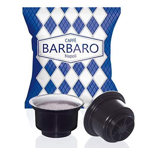 CAFFE' BARBARO Napoli Capsule CAFFITALY Compatibili miscela blu Cremoso Napoli 100 pz