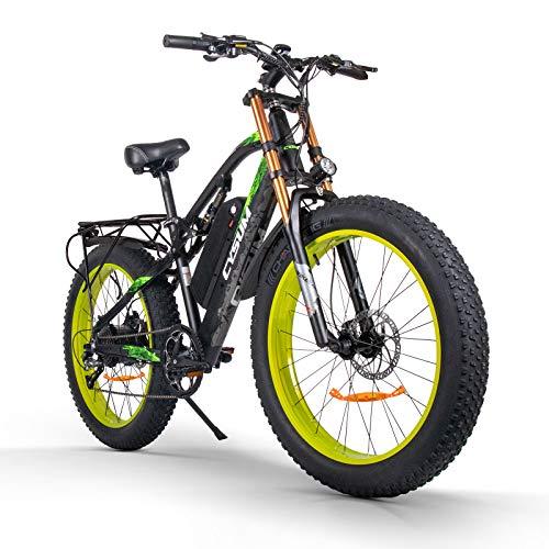 cysum M900 Bicicletas eléctricas para Hombres, Bicicletas eléctricas Fat Tire de 26...