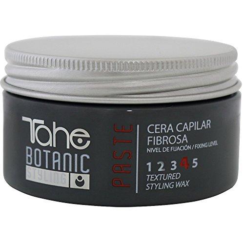 Tahe Botanic Styling Cera de pelo/Cera capilar Fibrosa Paste Formulada con Cera de Abeja sin Residuos, Fijación 4, 100 ml