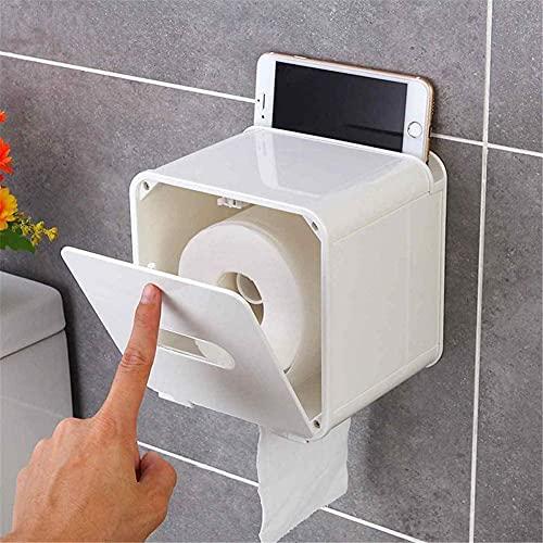 Tenedor de la caja de pañuelos Caja de papel a prueba de agua Caja de pañol impermeable Montaje de pared Titular de papel higiénico Estante Papel higiénico Bandeja Papel Caja de almacenamiento Cuadrad