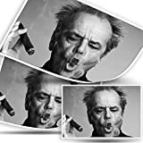 Jack Nicholson Smokes Schauspieler-Poster,