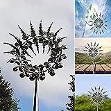 KEYDI Einzigartige und magische Metall Windmühle, Wind Spinner Sculptures Wind Catcher Outdoor Wind Catcher Metal Garden Decor for Patio Lawn & Garden (1pcs)