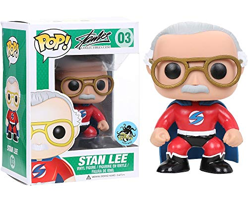 Funko Stan Lee Red Superhero Pop Vinyl Exclusive by FunKo