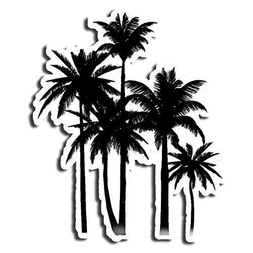 Black and White Palm Tree Sticker Beach Stickers Waterbottle Sticker Tumblr Stickers Laptop Stickers Vinyl Stickers