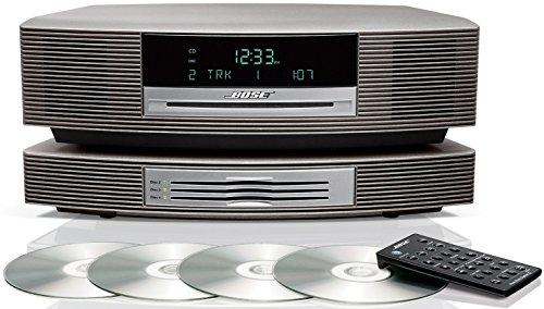 Bose Wave - Sistema musicale con cambio multi-CD, colore: Argento titanio, compatibile con Alexa Amazon Echo