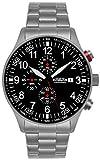Astroavia Herren-Armbanduhr Chronograph Quarz Edelstahl Armband massiv N57S