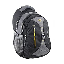Finer Casual Backpacks for Men Women|College Bags|Office Laptop Bagpacks| Trendy Light Weight Bags|Fancy Travel Backpack Water Resistance|Tool Bags| 34 litres (with raincover) (Grey & Black),Finer,1003Greyblack