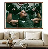 nobrand Poster Rock Dwayne Johnson Workout Gym Muskel