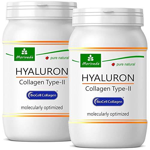 Biocell Collagen® o Collagen Express en cápsulas (con colágeno-II, ácido hialurónico, vitamina C y manganeso) 1000 mg de colágeno / día para la piel, el cabello y las articulaciones con NP-Vital (120 Biocell Collagen® cápsulas)