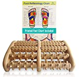 TheraFlow (XL) Dual Foot Massager Roller - Relax, Relieve Foot Pain, Plantar Fasciitis. 2019 Enhanced Model. Laminated Foot Chart and Detailed Instructions Included. Stress Relief. Relaxation Gift