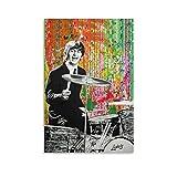 QIUPING Ringo Starr Pop Art Poster Gemälde auf Leinwand