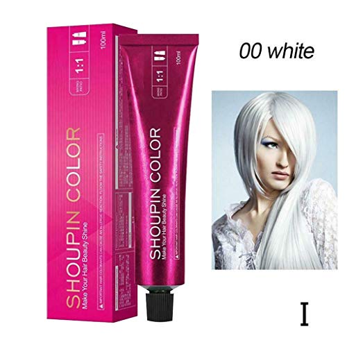 Mermaid Hair Coloring Dye Mild Safe Hair Dyeing for All Hairs - Best Mild and not irritating Latest Popular Hair Color (I White)