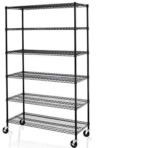 "C&AHOME Wire Cube Storage Organizer, Modular Shelving Units, Metal Grids Bookshelf, 6 Cubes Closet Organizer, Storage Shelves for Home, Office, Kids Room, 36.6""L x 12.4""W x 36.6""H White TWJ3006A"