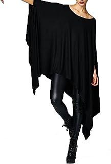 Vivicastle Women's Loose Bat Wing Dolman Poncho Tunic Dress Top