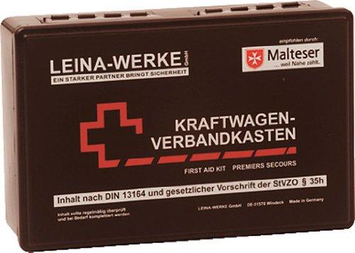 Leina-Werke 10007 Trousse de secours pour voiture Conforme 13164 Noir 255 x 166 x 80 mm