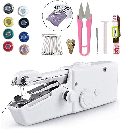 Mini máquina de coser, máquina de coser a mano portátil de puntada...