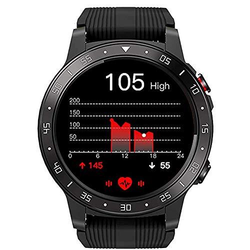 XXCLZ Smart GPS Watch, Orologio Sportivo Digitale degli Uomini, Esterna Impermeabile Orologio da Polso, con frequenza cardiaca, Esercizio Monitor,Black