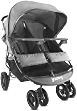 Best Joovy Scooter X2 with Tray, Double Stroller, Side by Side Stroller, Stroller for Twins, Large Storage Basket, Charcoal Reviews