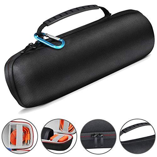 Aiglam Tasche für JBL Flip Series, Hart Fall Reise Tragen Tasche für JBL Flip 4/3/2/1, Tragbarer Hart wasserdichte Schutz Etui Tasche Passend für Ladegeräte & USB-Kabel