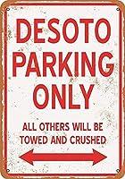 2個 DeSoto駐車場のみブリキの看板金属板装飾看板家の装飾プラーク看板地下鉄金属板8x12インチ メタルプレート レトロ アメリカン ブリキ 看板