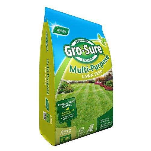 Westland Horticulture GRO-Sure Semences pour Gazon Multi-usages, 120 m², 3,6 kg