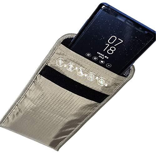 ZCVB Jaula Anti-Radiación Bolsa De Seguridad para Teléfono Celular Bolso Faraday Fibra Plateada Anti-Seguimiento Anti-Espionaje RFID GPS 5G EMF Bolsa De Bloqueo De Señales