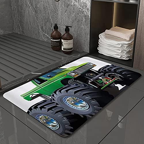La Alfombra de baño es Suave y cómoda, Absorbente, Antideslizante,Camioneta Pickup Gigante de Cars con Llantas Grandes y suspensión.Apto para baño, Cocina, Dormitorio (40x60 cm)