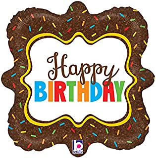 Burton & Burton Happy Birthday Sprinkles Foil/Mylar Balloon