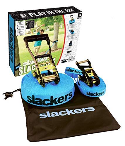 slackers 50-Feet Slackline Classic Set with Bonus Teaching Line, Assorted color