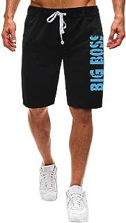 IHGTZS Shorts for Men, Fashion Men Summer Solid Trunks Board Beach Elastic Waist Running Short Pants