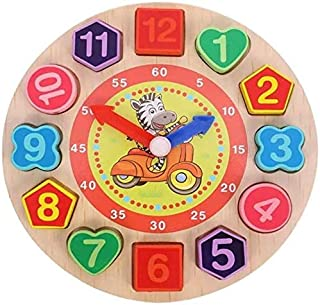 Mumoo Bear Wooden Teaching Time Clock Puzzle Toy