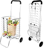 Abhsant hopping Trolley Foldable Collapsible Transportation High Capacity Bearing Strong Aluminium