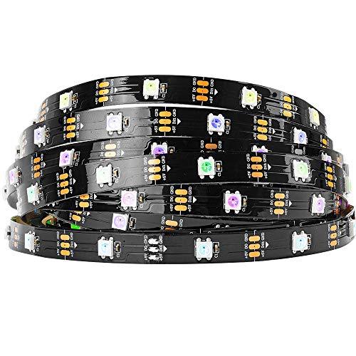 BTF-LIGHTING WS2812B 5M 30 LEDs/Pixels/m 150LEDs RGB adressierbare Streifen mit 5050 SMD LEDs Wasserdicht in Rohr IP30